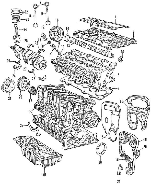 Imagen de Motor Completo Original para Volvo C70 1998 Volvo S70 1998 Volvo V70 1998 Marca VOLVO Remanufacturado Número de Parte 8601321