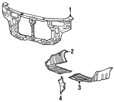 Imagen de Barra sujeción soporte del radiador para Hyundai Elantra 1999 2000  ORIGINAL parte# 64100-29510