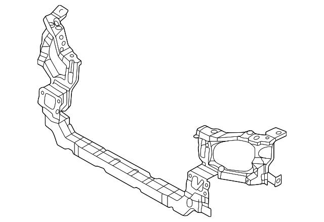 Imagen de Barra sujeción soporte del radiador para Hyundai Xg350 2004 2005  ORIGINAL parte# 64100-39510