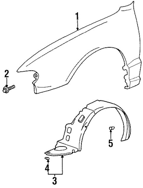 Imagen de Protector de Guardafangos para Hyundai Accent 1999  ORIGINAL parte# 86812-22500