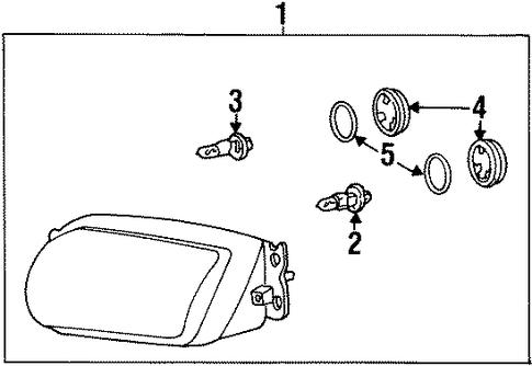 Imagen de Conjunto de Faros Delanteros para Hyundai Tiburon 2000 2001  ORIGINAL parte# 92101-27550
