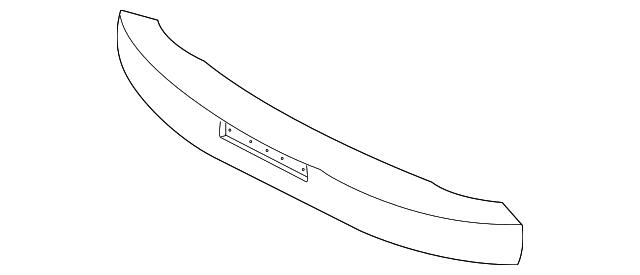 Imagen de Absorbedor de impacto de gomaespuma del parachoque para Kia Rio 2001 2002  ORIGINAL parte# 0K32A-50111