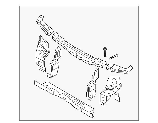 Imagen de Barra sujeción soporte del radiador para Kia Sedona 2002  ORIGINAL parte# 0K52Y-53100A